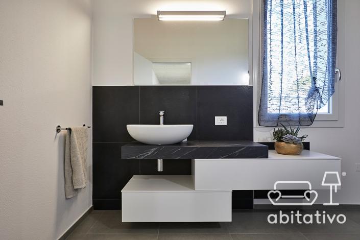 mobile bagno sospeso in marmo