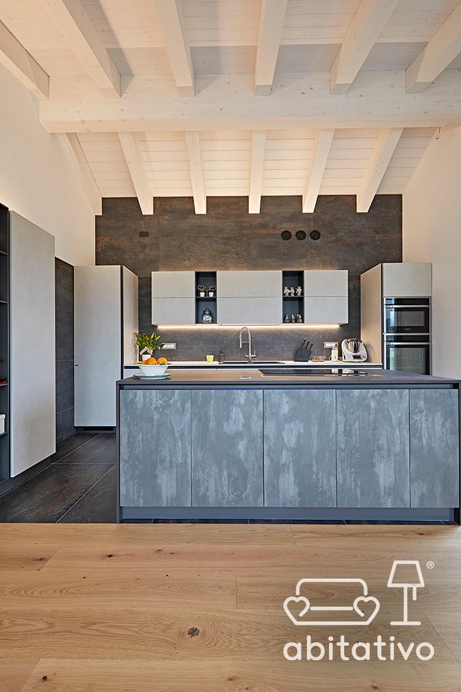 differenziare pavimento cucina a vista