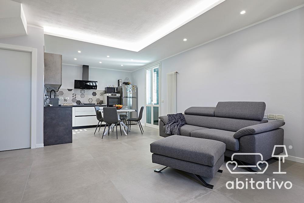 posizione divano con pouf zona living