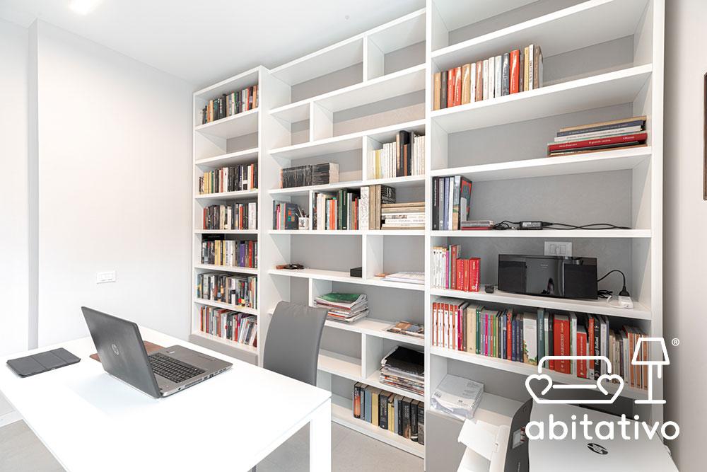 libreria a muro modulabile