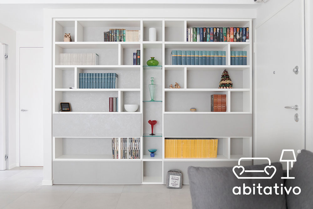mobile libreria bianco