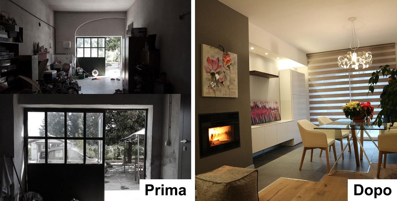 trasformare garage in mini appartamento