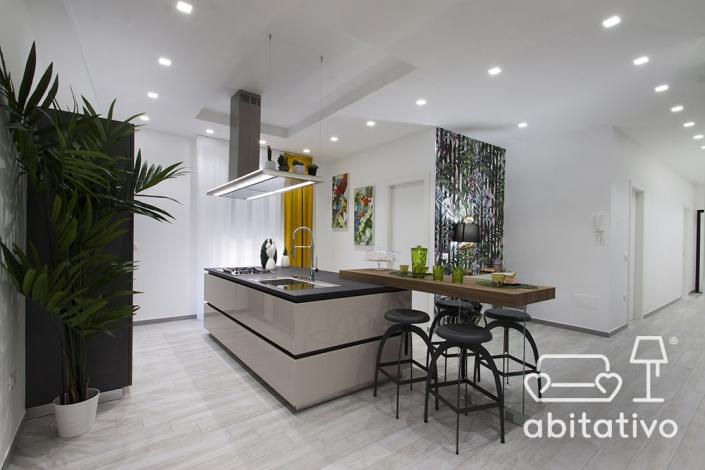 punti luce zona cucina e soggiorno