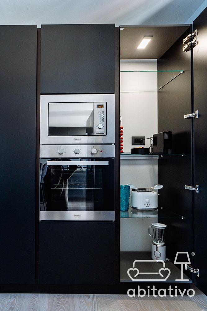 mobile cucina con forno e microonde