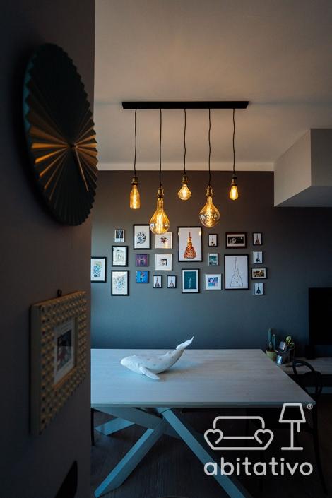 lampadario a sospensione moderno lampadine