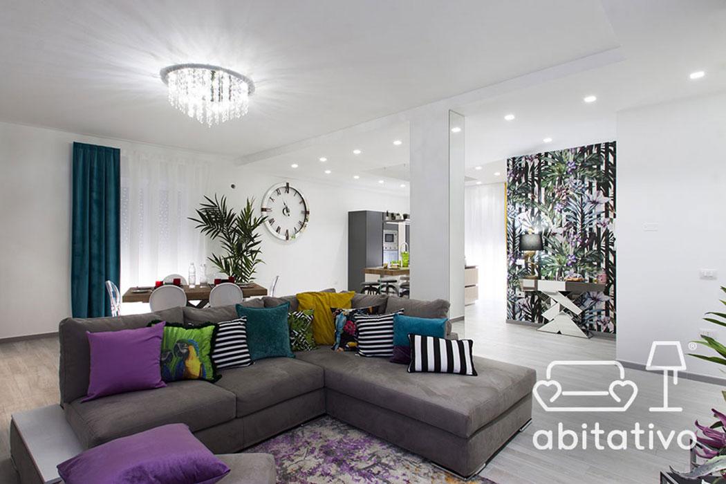arredare con colori soggiorno bianco