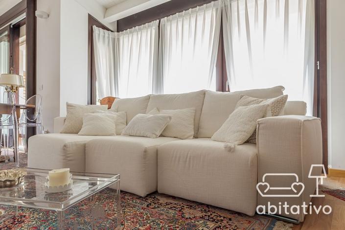 divano moderno total white