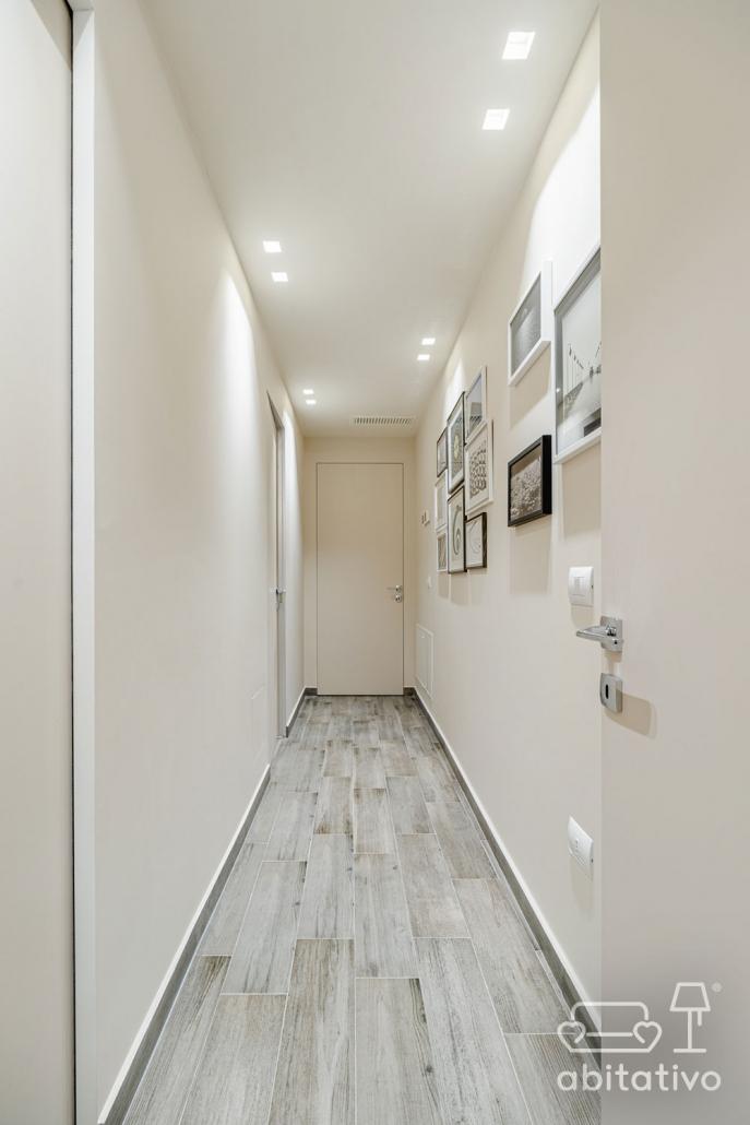 illuminazione corridoio ingresso con faretti
