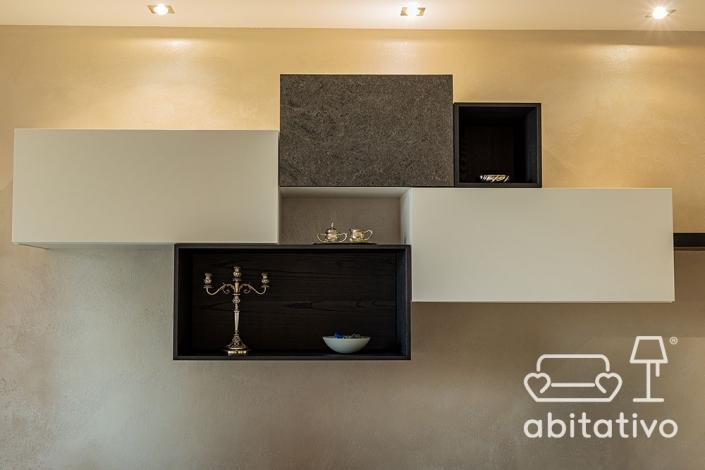 idee composizione moderna in soggiorno
