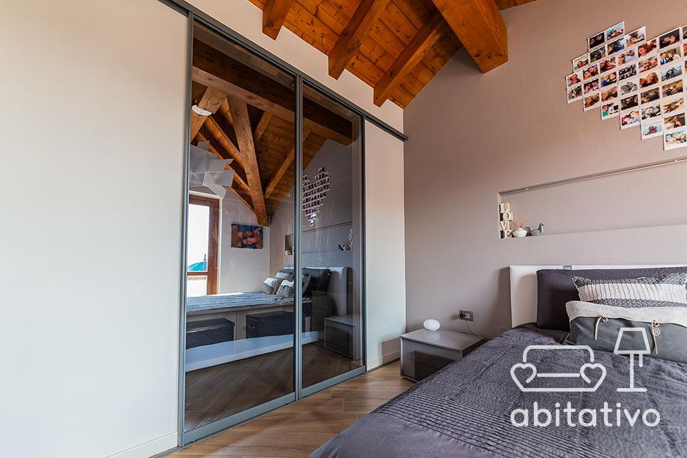 divisorio tra camera letto e cabina armadio