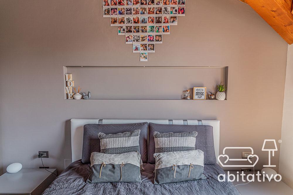 idee parete sopra al letto