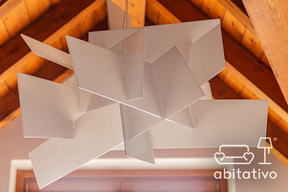 lampadario di design bianco da soffitto