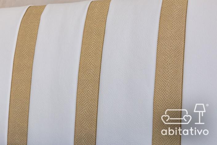 dettagli tessuto arredamento bianco e oro