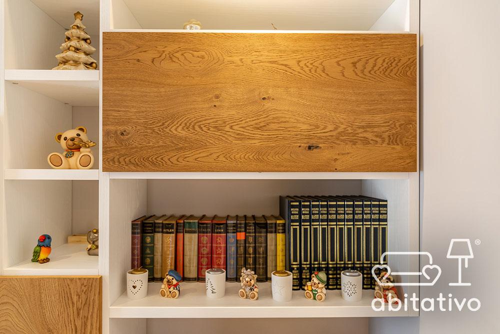 arredamento moderno bianco e legno naturale