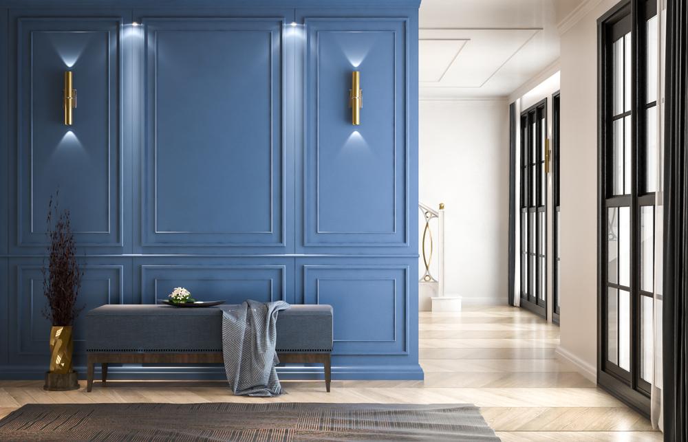 colore pareti blu