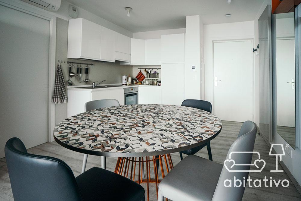 progettare zona living piccolo appartamento