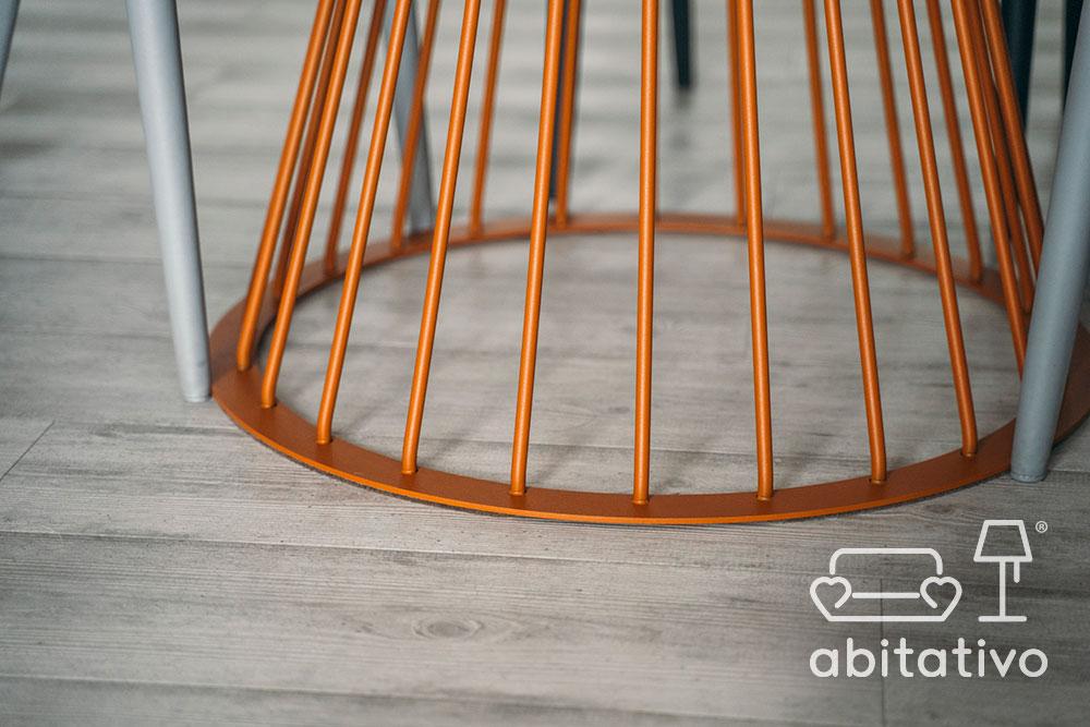 tavolo design di ferro arancione