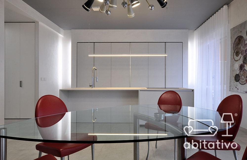 progetto cucina appartamento lusso