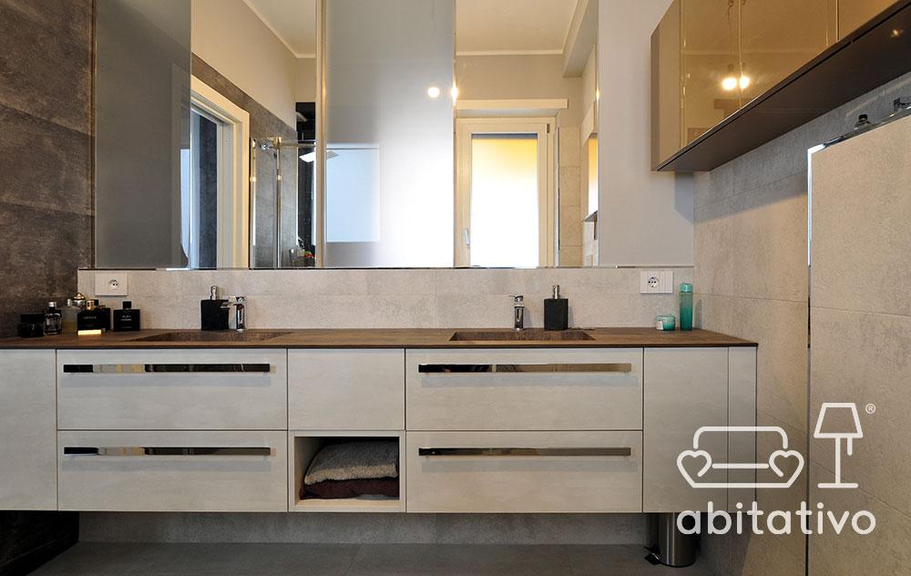 mobile bagno doppio lavandino
