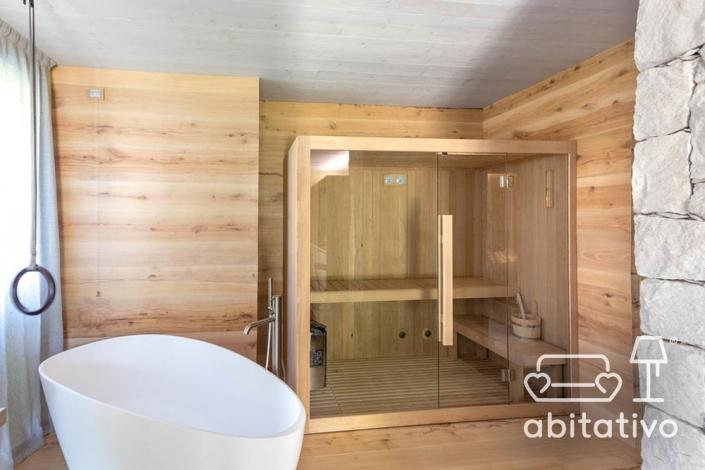 sauna legno bagno moderno