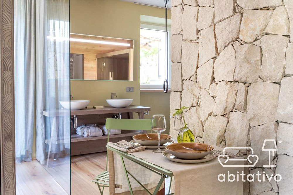 parete bagno pietra naturale