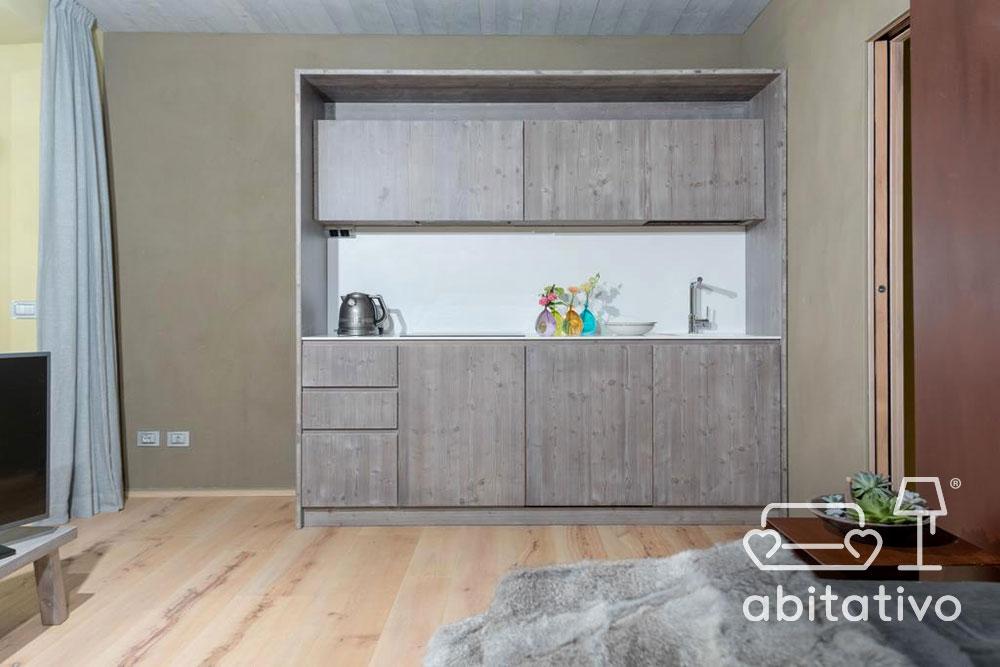 piccola cucina minimal legno