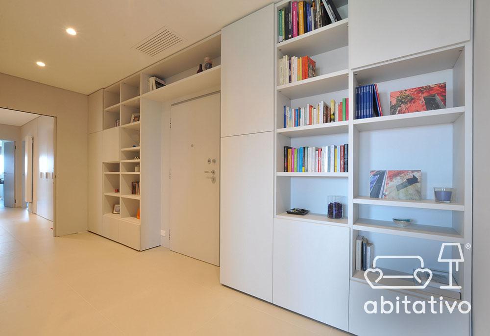 libreria a parete total white
