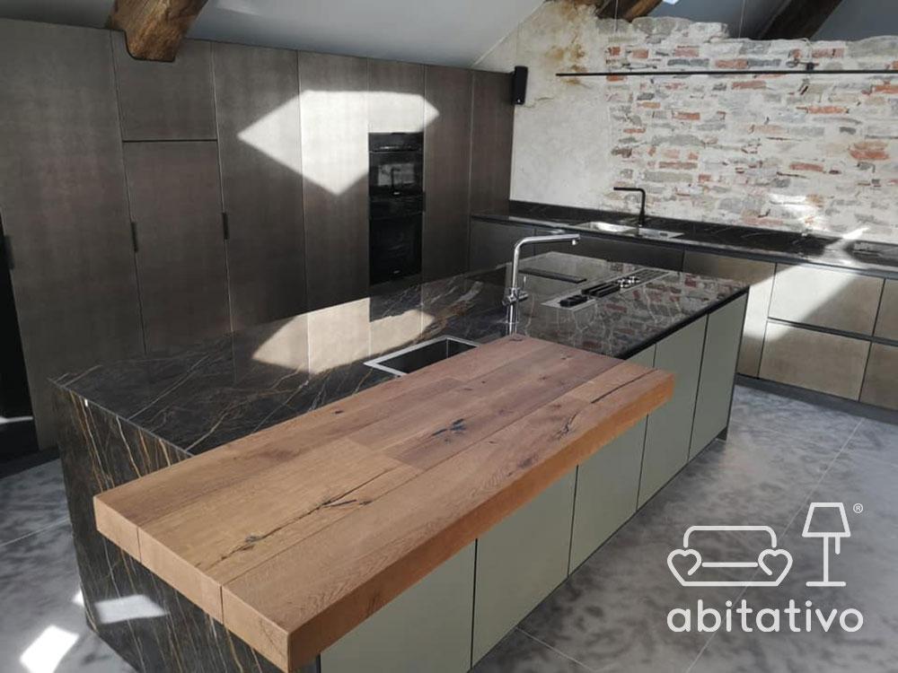 isola marmo legno moderna