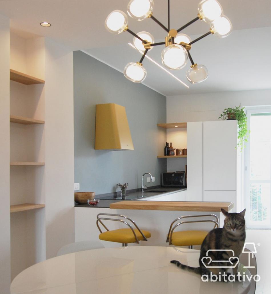 illuminazione moderna cucina design