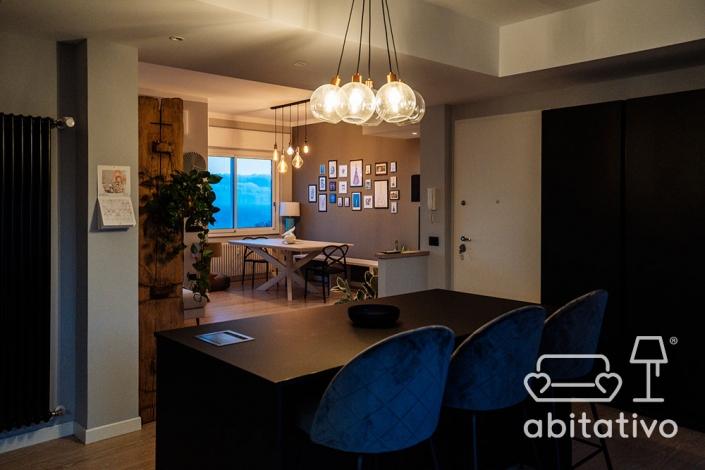 lampadario vetro cucina soggiorno