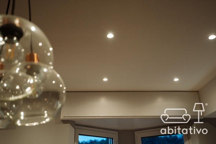 illuminazione controsoffitto cucina