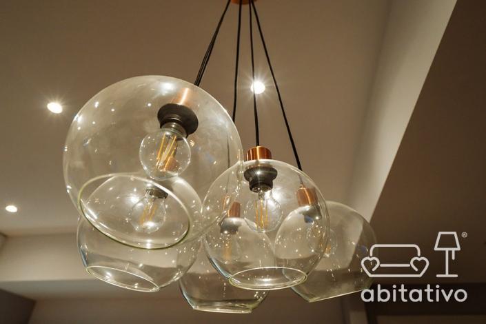 lampadari stile industrial cucina
