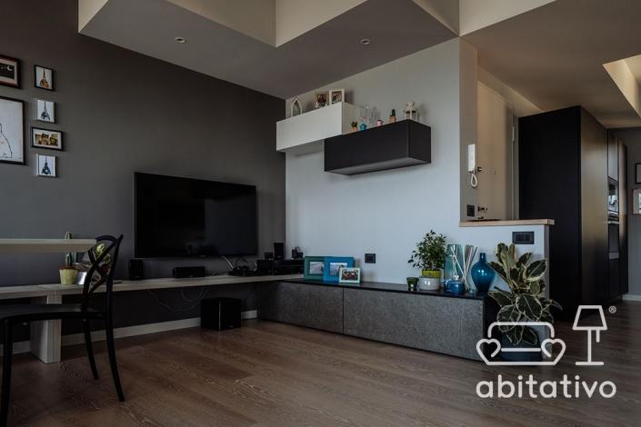 progetto disposizione mobili soggiorno