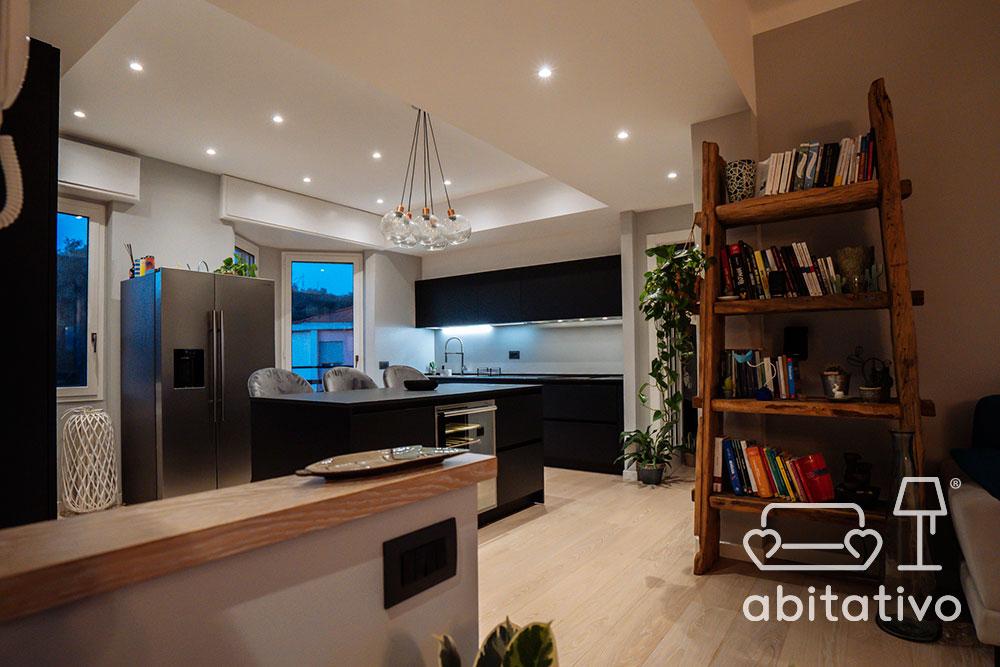 illuminazione cucina con faretti