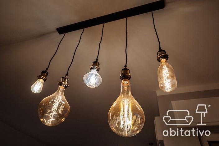 lampadari industrial sala da pranzo