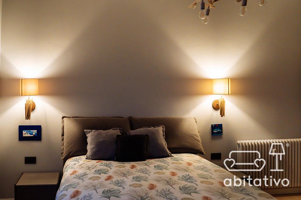 illuminazione applique camera da letto