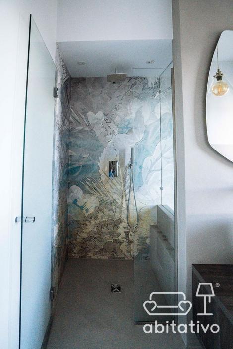 doccia a pavimento porta vetro