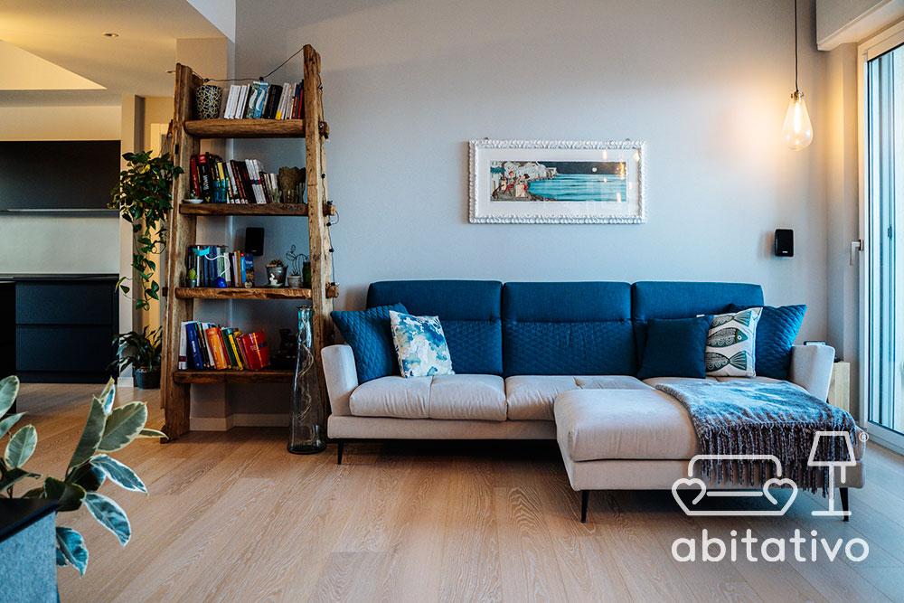 libreria legno grezzo moderna