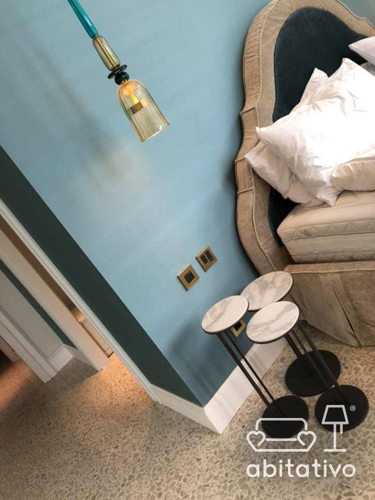 colore parete testata letto