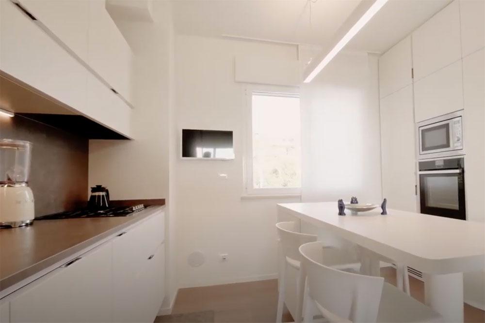 progetto luce cucina