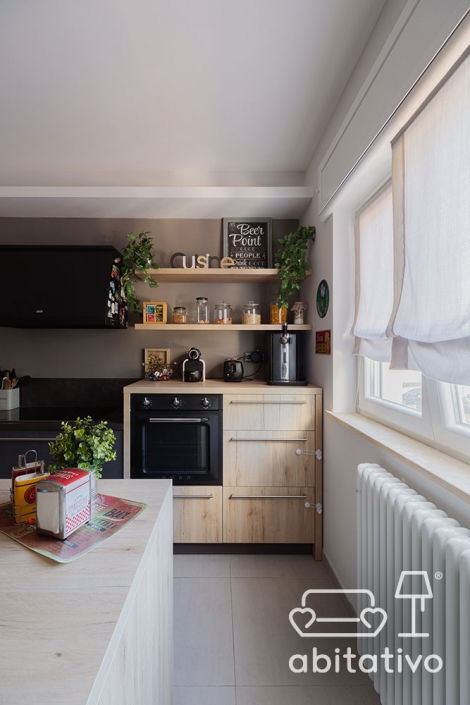 mensole cucina in legno