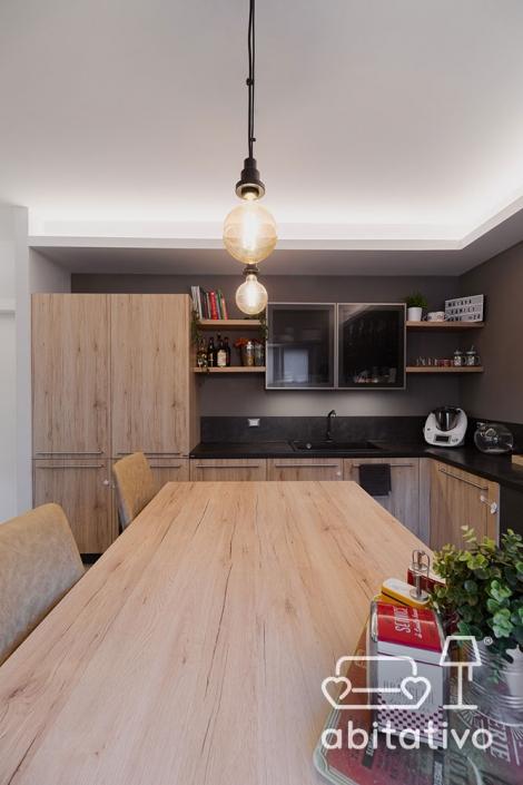 rivestimenti cucina legno e gres