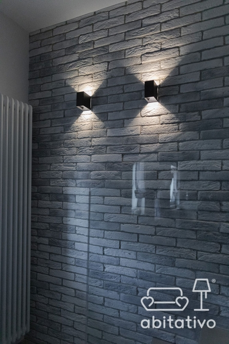 applique parete pietra