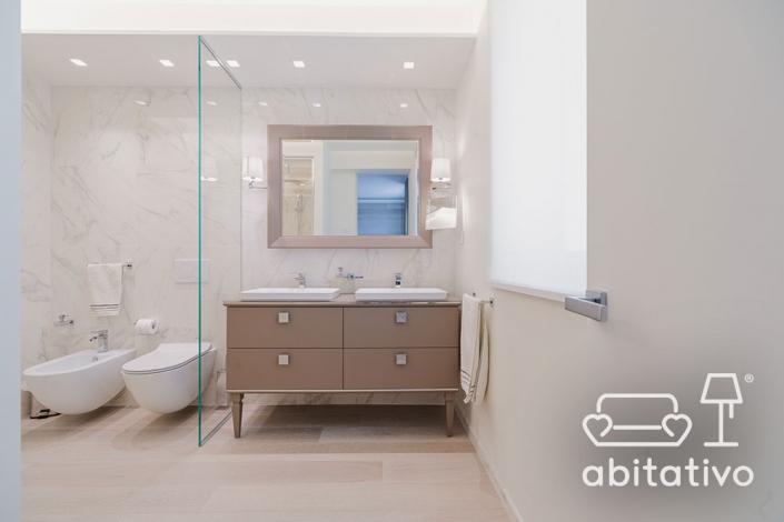interior design bagno marmo