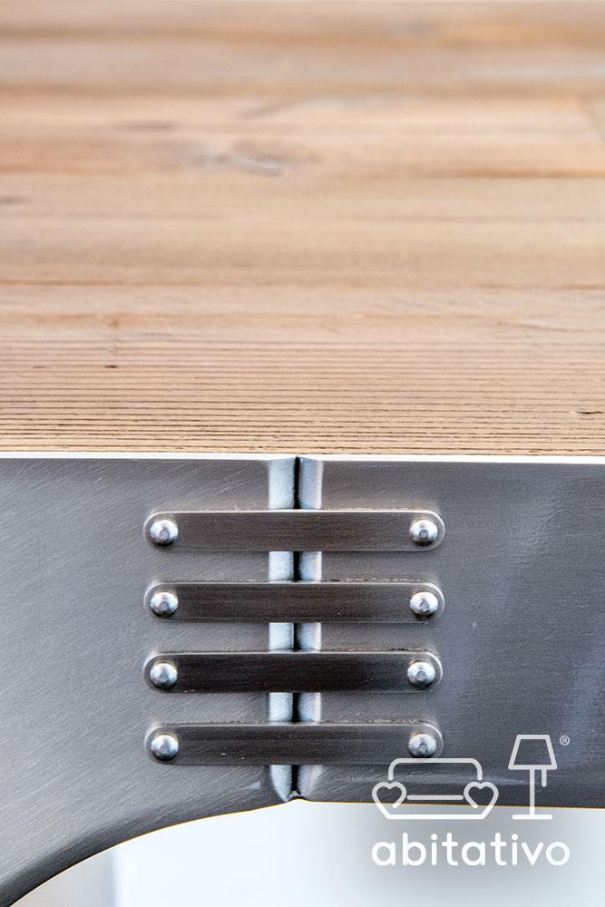 tavolo legno acciaio