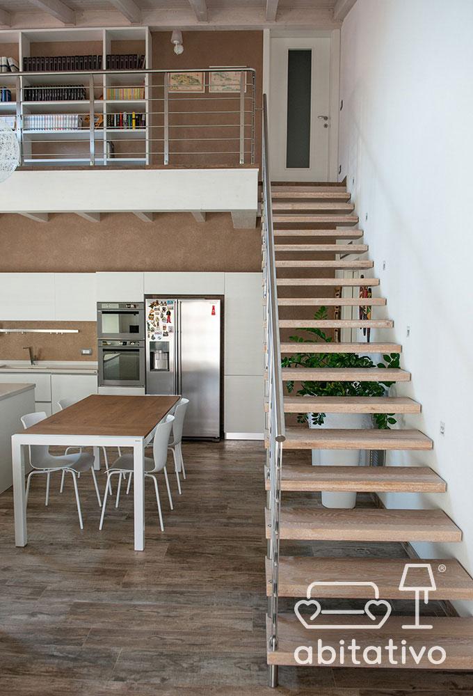 interior design loft con soppalco