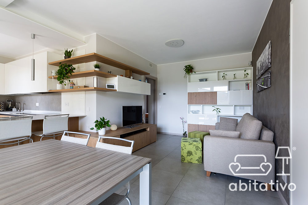 mobili legno soggiorno moderno