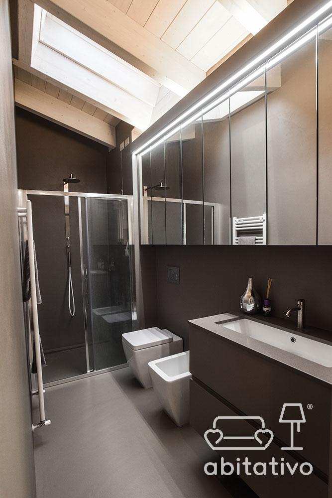 progetto bagno loft moderno