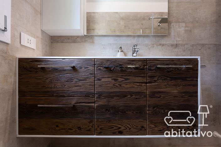 mobile bagno legno grezzo