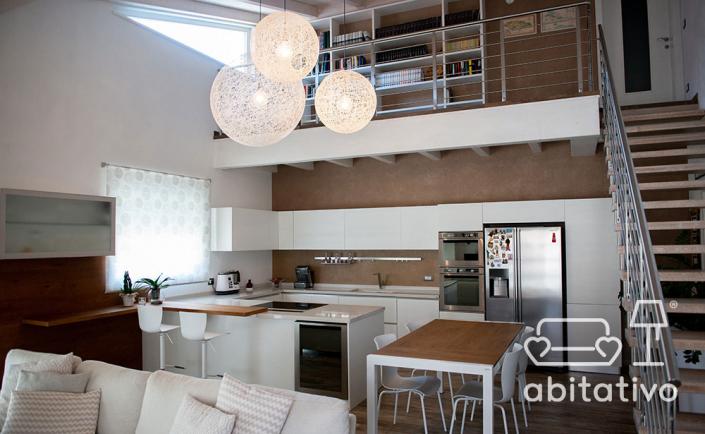 progetto interni loft moderno